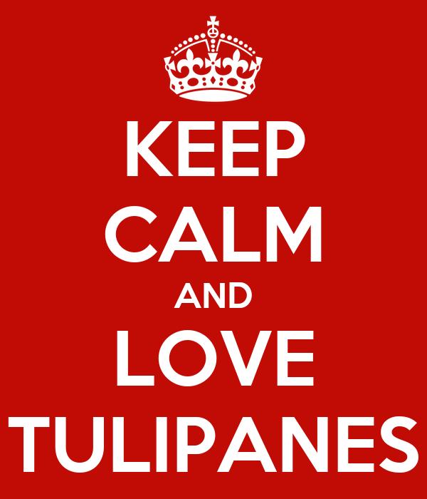 KEEP CALM AND LOVE TULIPANES