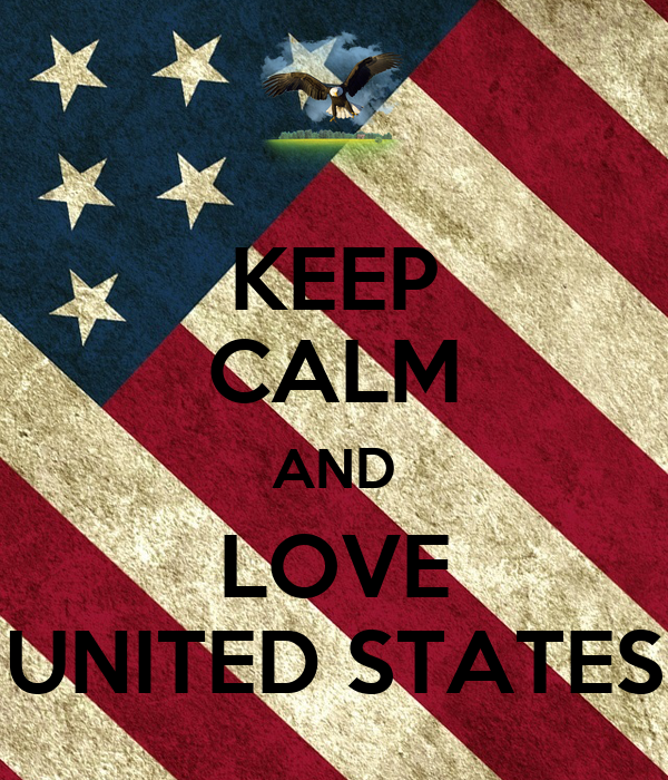 KEEP CALM AND LOVE UNITED STATES