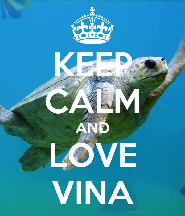 KEEP CALM AND LOVE VINA