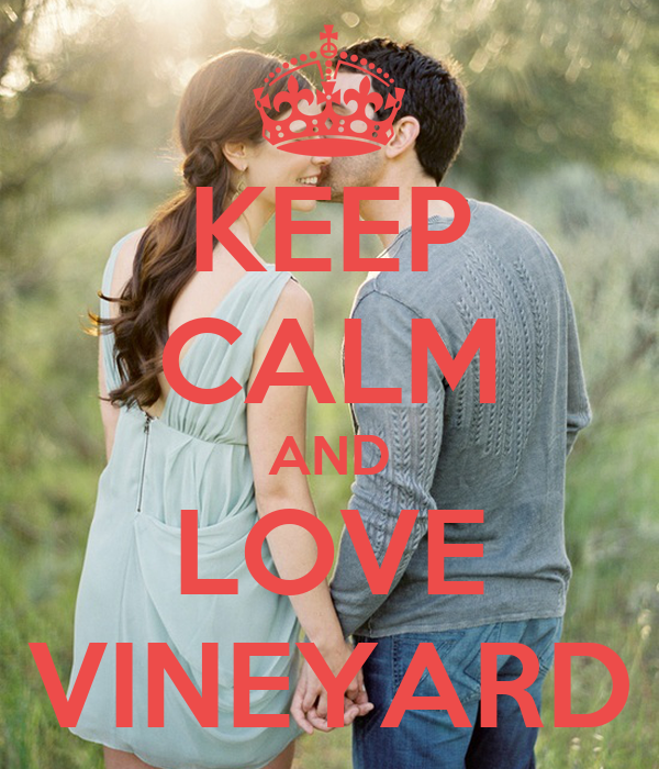 KEEP CALM AND LOVE VINEYARD