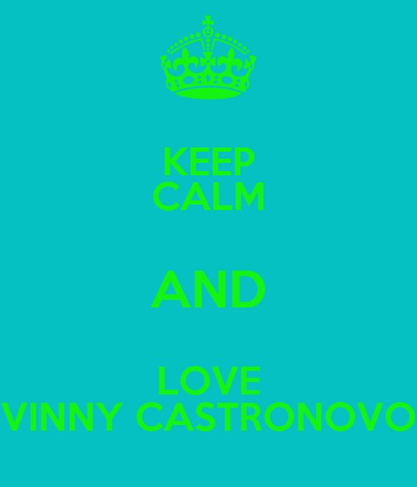 KEEP CALM AND LOVE VINNY CASTRONOVO