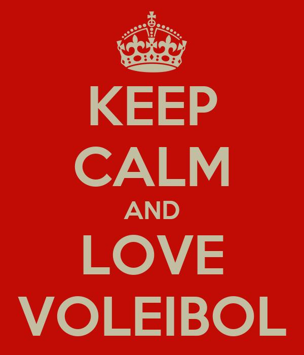 KEEP CALM AND LOVE VOLEIBOL