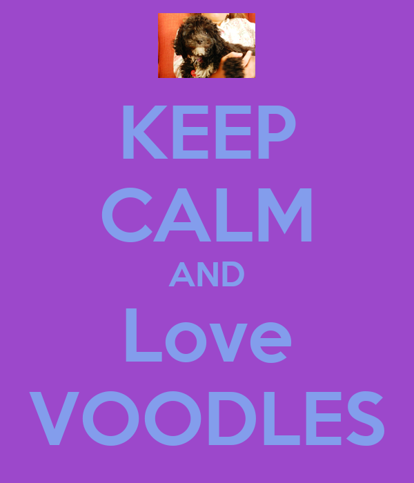 KEEP CALM AND Love VOODLES