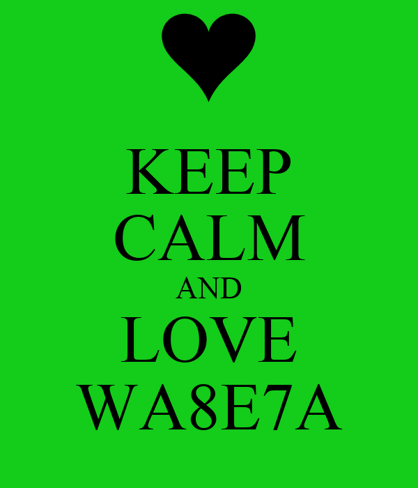 KEEP CALM AND LOVE WA8E7A