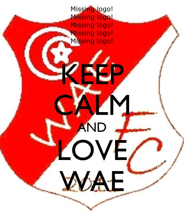 KEEP CALM AND LOVE WAE