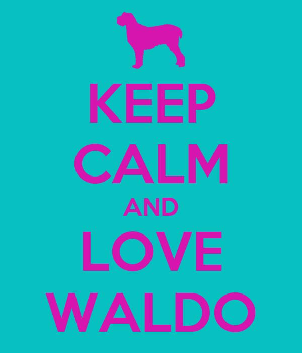 KEEP CALM AND LOVE WALDO