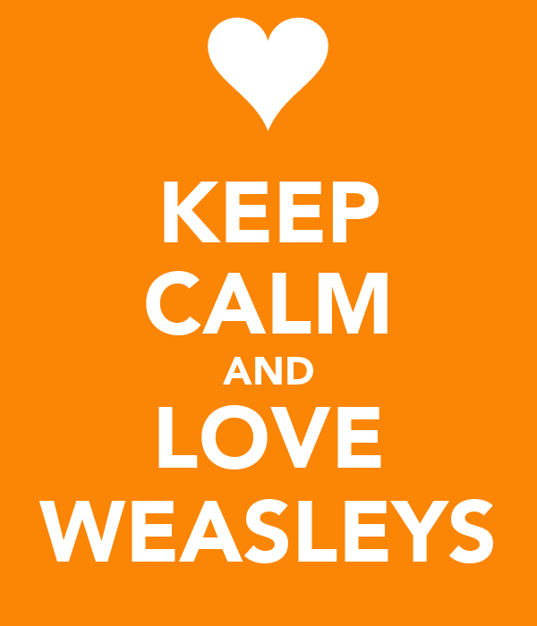 KEEP CALM AND LOVE WEASLEYS