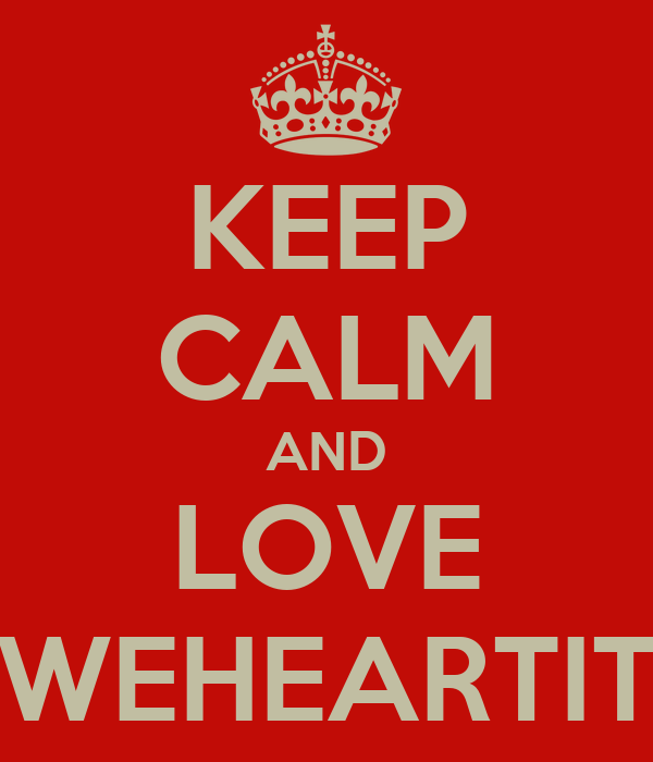 KEEP CALM AND LOVE WEHEARTIT