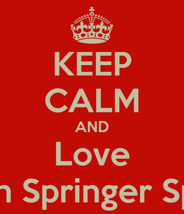KEEP CALM AND Love Welsh Springer Spainls