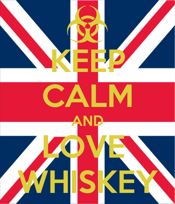KEEP CALM AND LOVE  WHISKEY