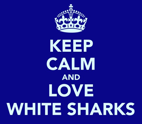 KEEP CALM AND LOVE WHITE SHARKS