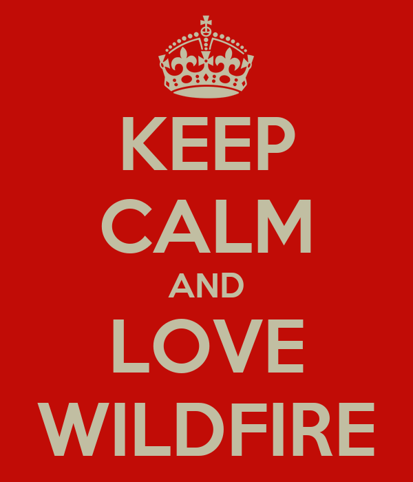 KEEP CALM AND LOVE WILDFIRE