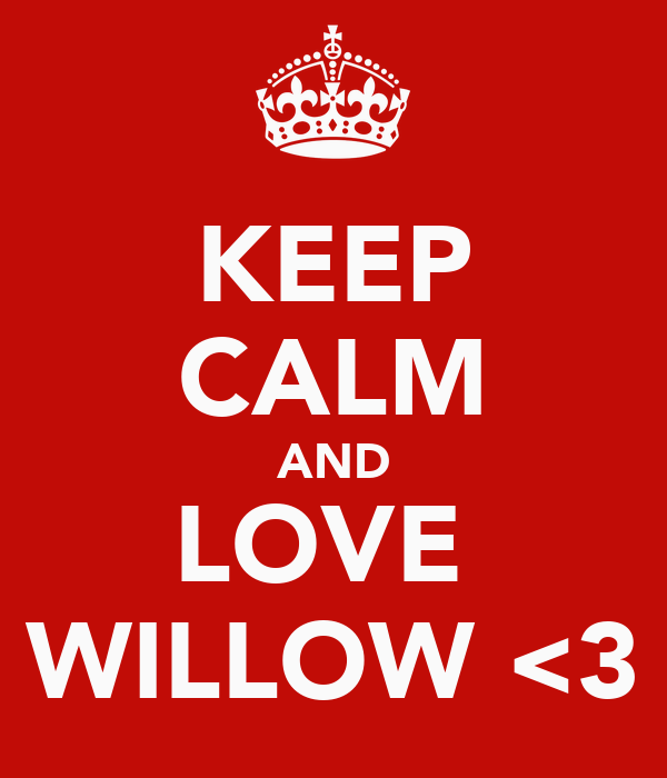KEEP CALM AND LOVE  WILLOW <3