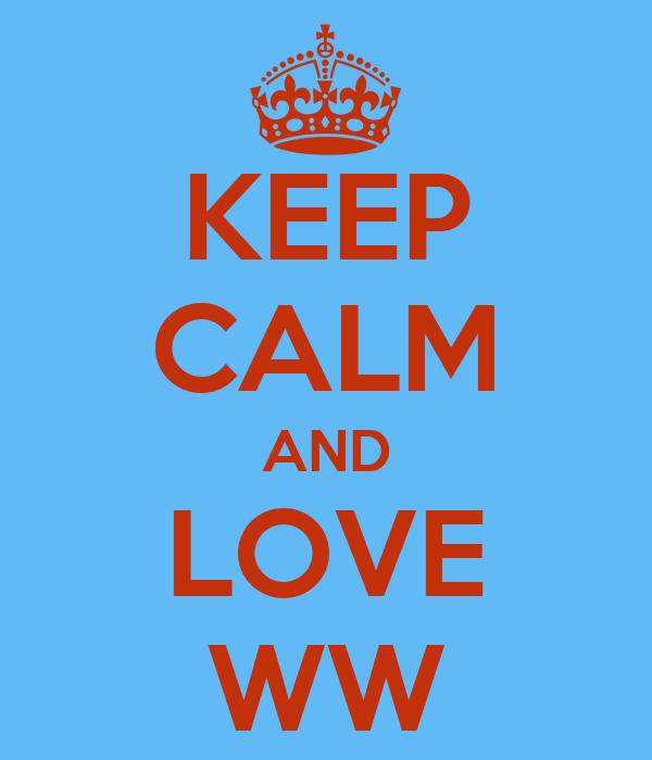 KEEP CALM AND LOVE WW
