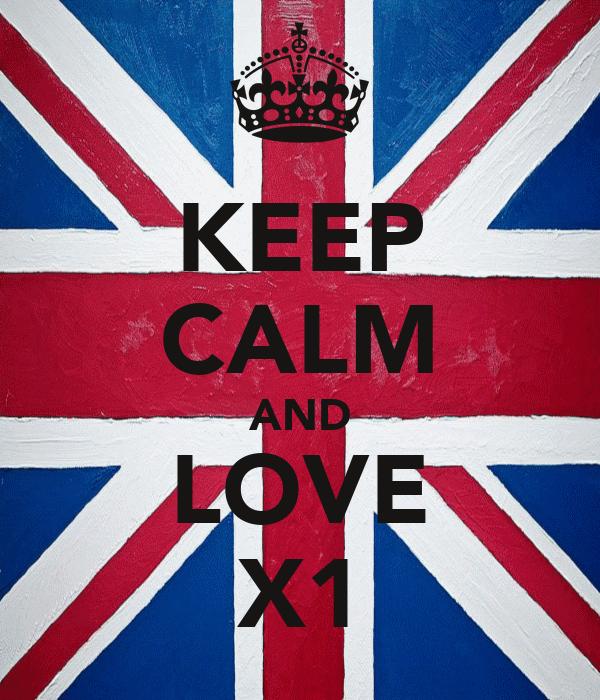 KEEP CALM AND LOVE X1