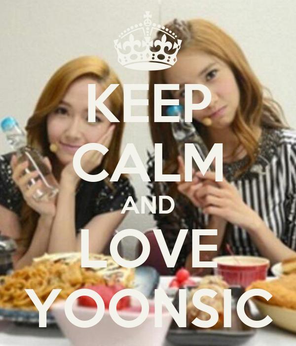 KEEP CALM AND LOVE YOONSIC