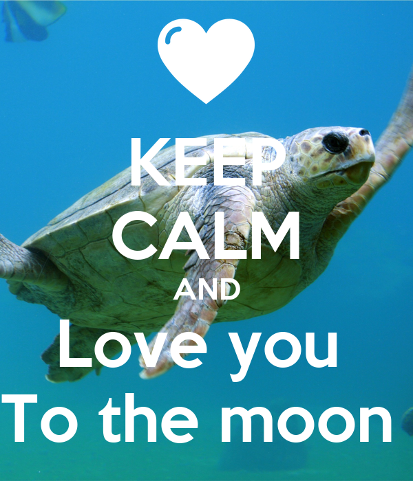 KEEP CALM AND Love you  To the moon