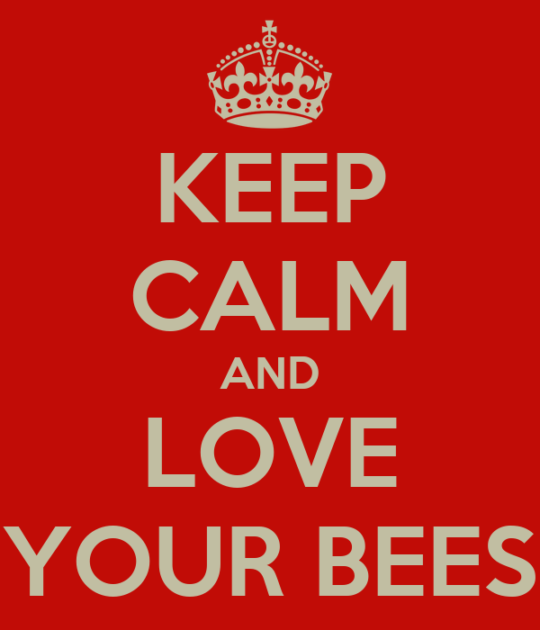 KEEP CALM AND LOVE YOUR BEES