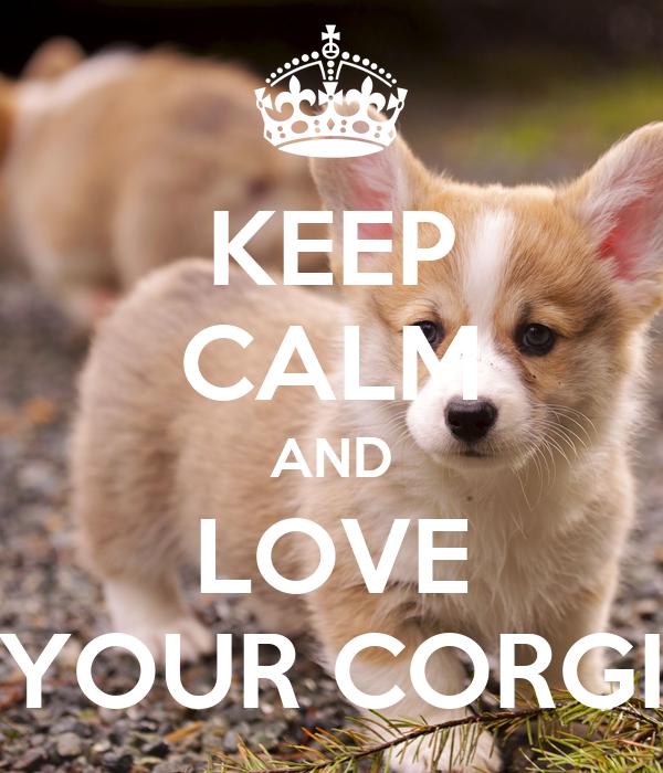 KEEP CALM AND LOVE YOUR CORGI