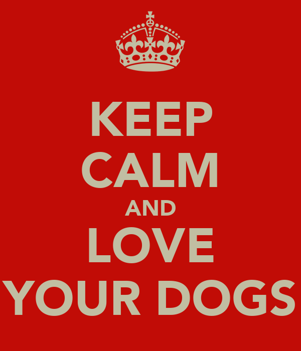 KEEP CALM AND LOVE YOUR DOGS