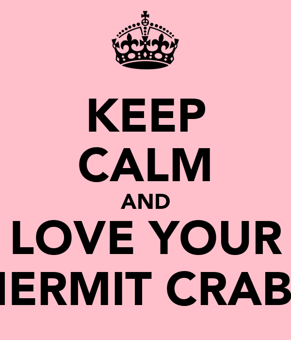 KEEP CALM AND LOVE YOUR HERMIT CRABS
