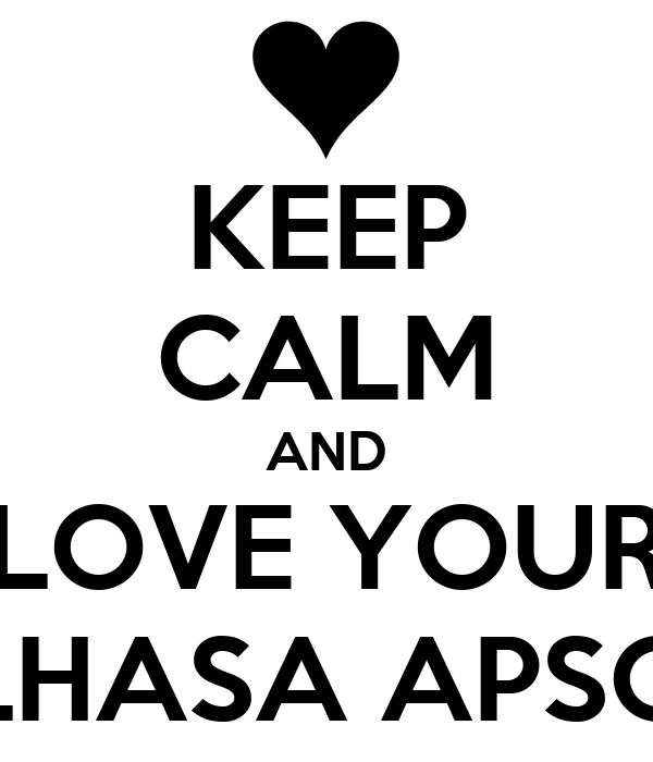 KEEP CALM AND LOVE YOUR LHASA APSO