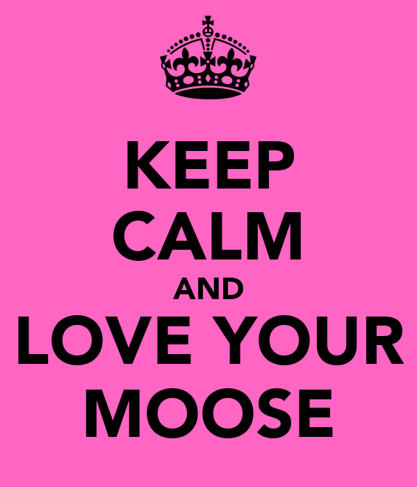 KEEP CALM AND LOVE YOUR MOOSE