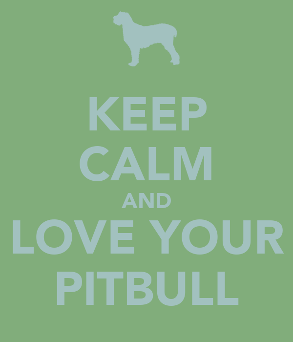KEEP CALM AND LOVE YOUR PITBULL