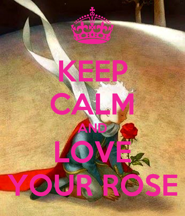 KEEP CALM AND LOVE YOUR ROSE