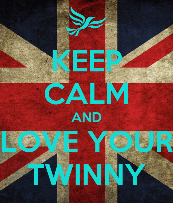 KEEP CALM AND LOVE YOUR TWINNY
