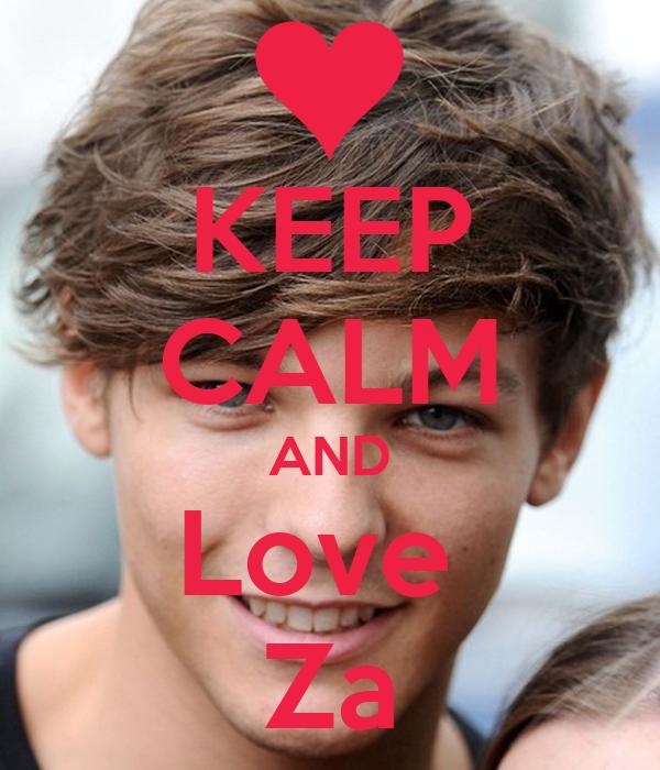 KEEP CALM AND Love  Za