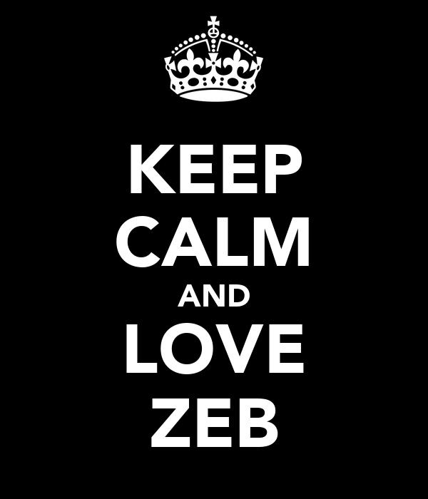 KEEP CALM AND LOVE ZEB