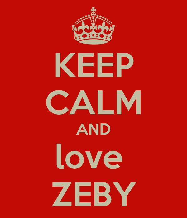 KEEP CALM AND love  ZEBY