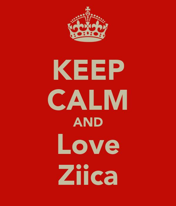 KEEP CALM AND Love Ziica