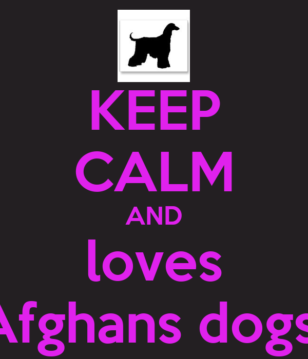 KEEP CALM AND loves Afghans dogs