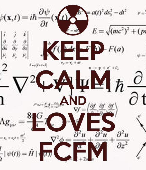 KEEP CALM AND LOVES FCFM
