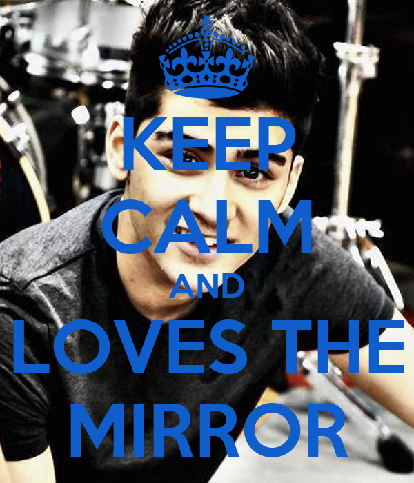 Keep calm and loves the mirror poster alejandra keep for Mirror 0 matic
