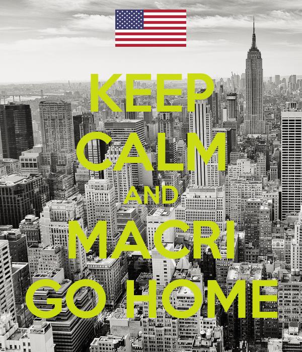 KEEP CALM AND MACRI GO HOME