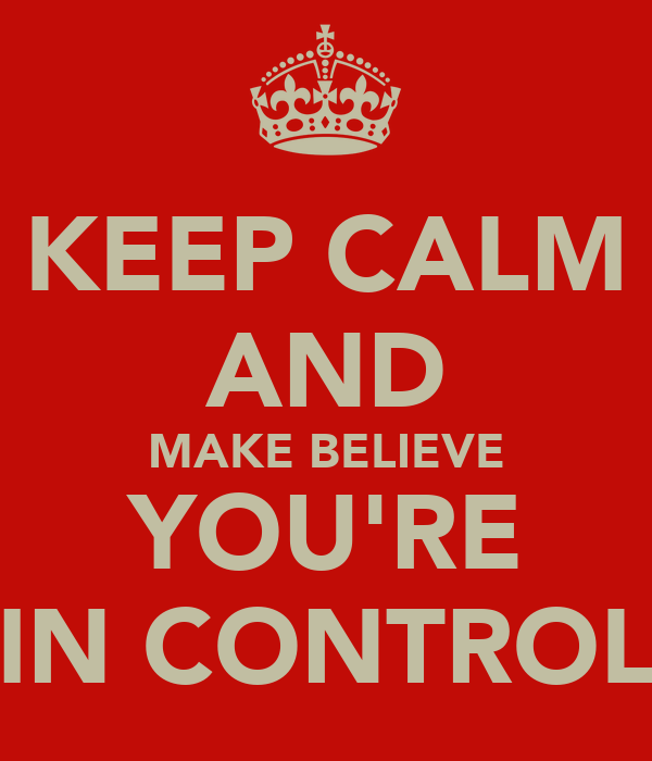 KEEP CALM AND MAKE BELIEVE YOU'RE IN CONTROL