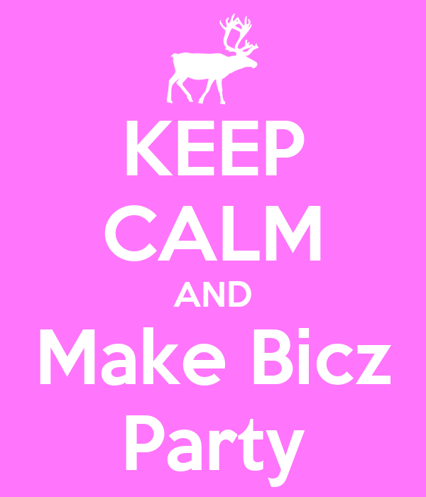 KEEP CALM AND Make Bicz Party