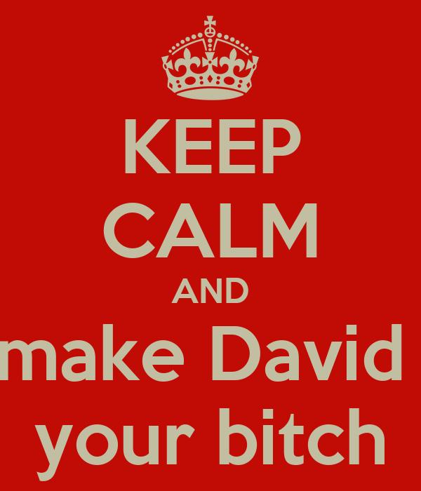 KEEP CALM AND make David  your bitch