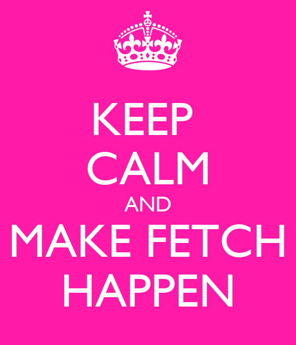 KEEP  CALM AND MAKE FETCH HAPPEN