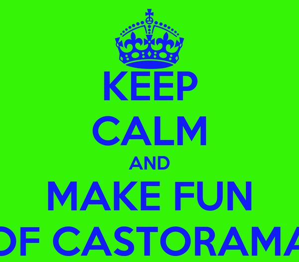 KEEP CALM AND MAKE FUN OF CASTORAMA