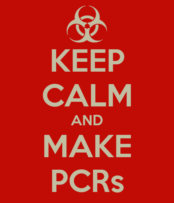 KEEP CALM AND MAKE PCRs