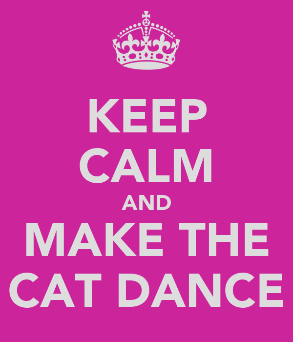 KEEP CALM AND MAKE THE CAT DANCE
