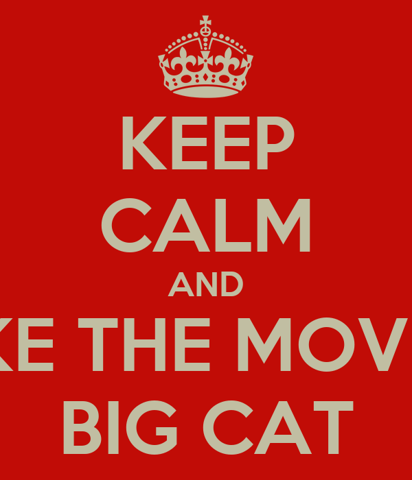 KEEP CALM AND MAKE THE MOVE BY BIG CAT
