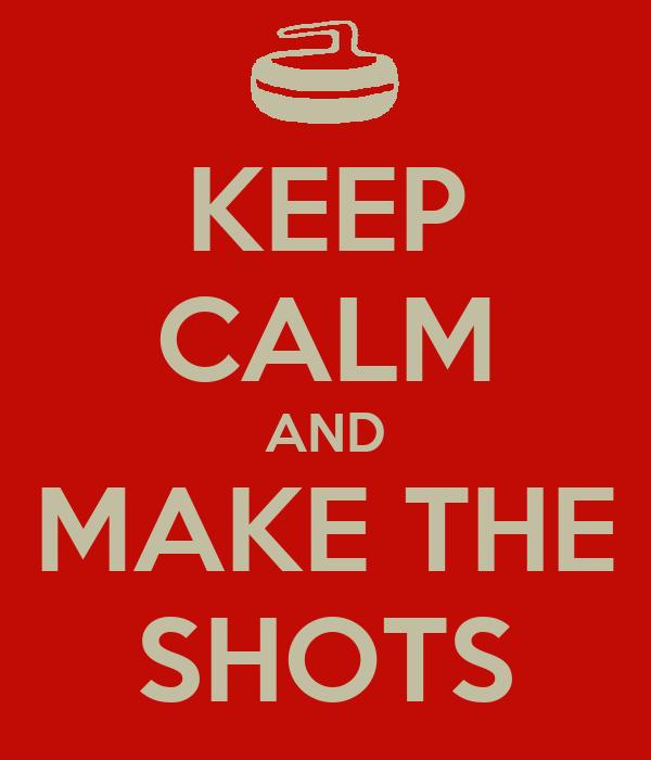 KEEP CALM AND MAKE THE SHOTS