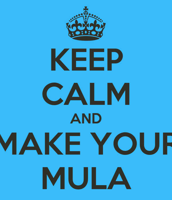 KEEP CALM AND MAKE YOUR MULA