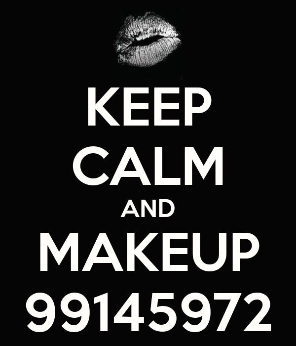 KEEP CALM AND MAKEUP 99145972