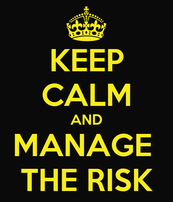 KEEP CALM AND MANAGE  THE RISK